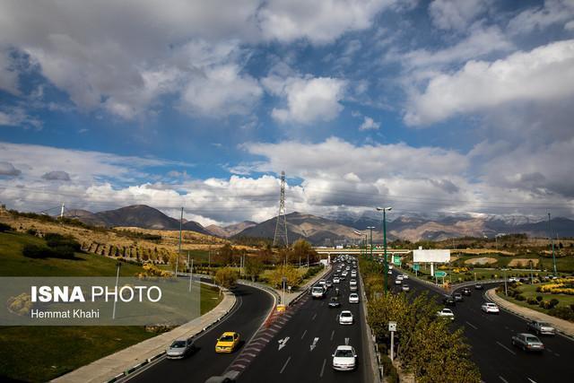 سلامت هوای تهران در اثر باد و باران