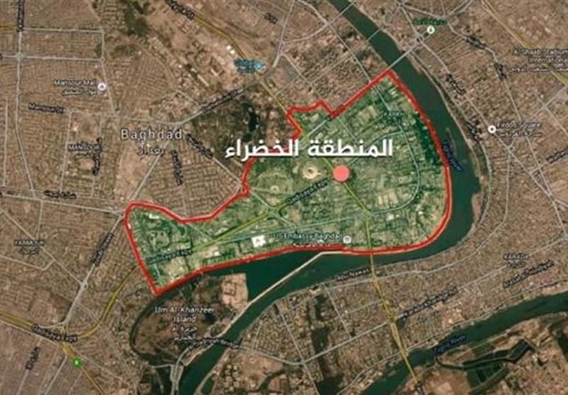 الجزیره : حمله موشکی به منطقه الخضراء بغداد، رویترز: یک موشک به نزدیکی سفارت آمریکا اصابت کرد
